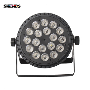 Image 2 - SHEHDS אלומיניום סגסוגת LED שטוח Par 18x18W RGBWA אור UV אלחוטי DMX 512 שלב תאורה עבור DJ דיסקו המפלגה מקרן מועדון לילה