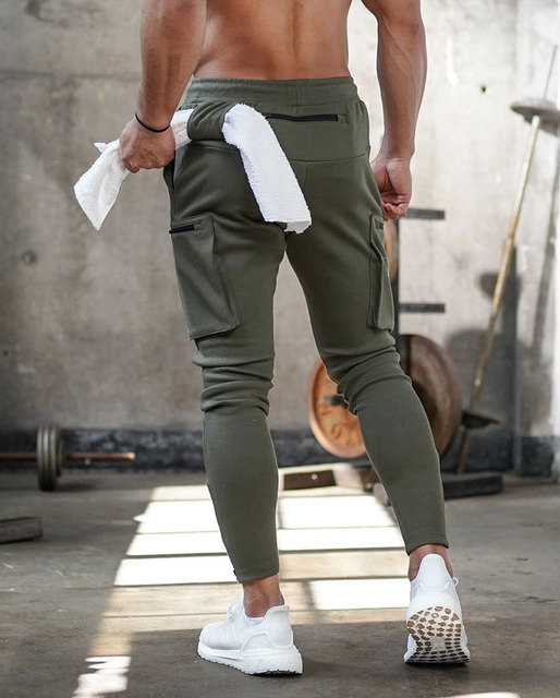 Joggers Men 2020 Streetwear Trousers Multiple Zipper Pockets Muscle Mens Pants , Sweatpants Tracksuit 20CK19 5