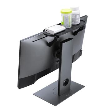 Monitor komputerowy Riser podstawka biurowa ABS uchwyt na telewizor półka ekspozycyjna biurko ze schowkiem z tworzywa sztucznego Organizer na biurko pulpit Home Office tanie i dobre opinie NoEnName_Null CN (pochodzenie) 5 -10 Storage Rack Storage Shelf 31 3x12 7x10 5cm black