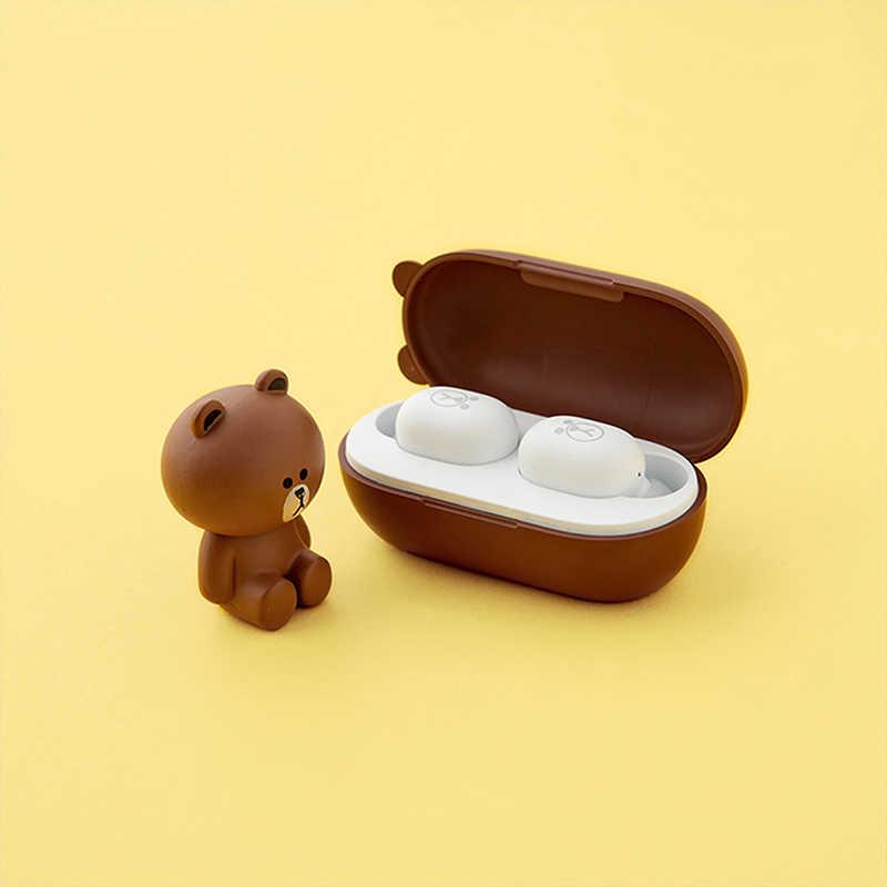 Xiaomi Line Friends Tws Waterproof Earphone Wireless Bluetooth 5 0 Earphone Mini Earbuds With Mic Charging Box Sport Headset Bluetooth Earphones Headphones Aliexpress