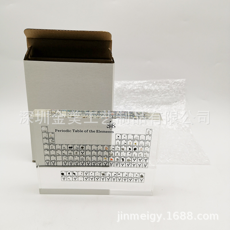 Periodic Table Spot Factory Periodic Table Physical Inlay Buried inside Acrylic Periodic Table