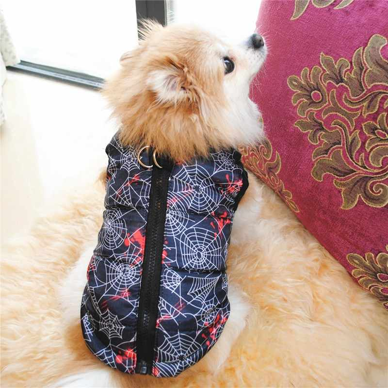 Vestiti del cane di Inverno del Cucciolo Gattino Giacca Abbigliamento Caldo Per Chihuahua Teddy Cappotto Della Chiusura Lampo Con Il Guinzaglio Dell'animale Domestico Dell'anello di Cappotto Della Maglia
