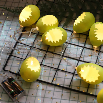 150Cm 10Leds Warm White LED Broken Egg Light String Battery Powered String Lamp for Easter Parties Decoration Ornament M13 фото