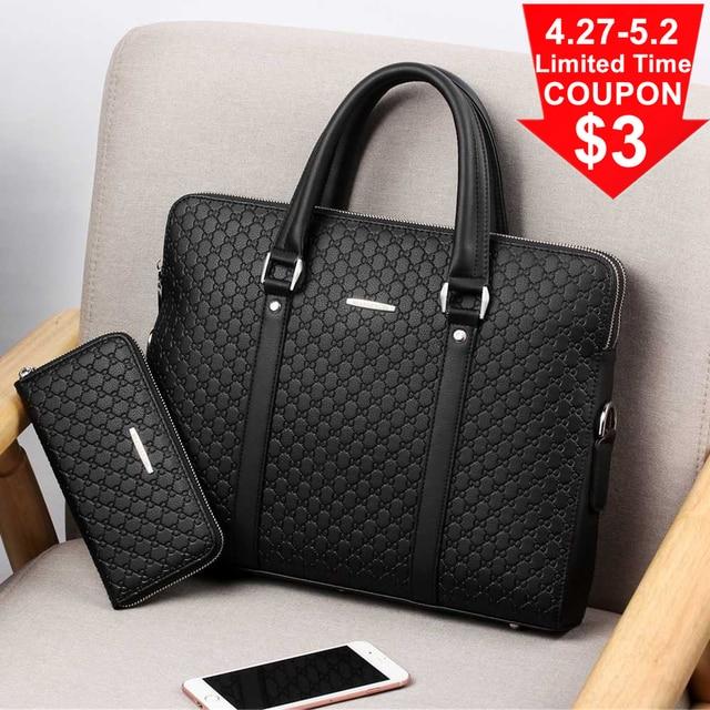 Bolsa masculina de couro, nova bolsa de viagem casual de couro masculina 6