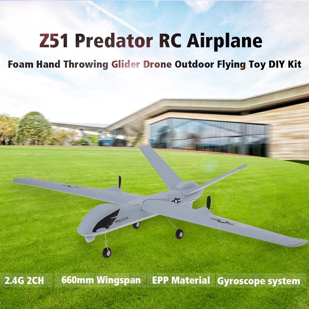 Avion planeur Z51 en mousse à lancer la main, modèle d'avion RC, jouet à ailes fixes, 20 Minutes, ailes, jouets pour garçons 2