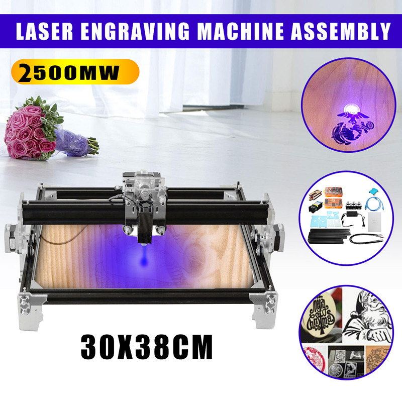 2500MW A3 30X38CM DIY Mini Laser Engraver CNC DIY Logo Mark Drucker Cutter Holz Router Carving Gravur Maschine Neue