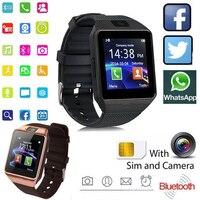Touch Screen digitale Smart Watch DZ09 Q18 bracciale fotocamera Bluetooth orologio da polso SIM Card Smartwatch supporto per telefoni Android Ios