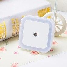 Lntelligent LED Night Light Energy Saving control Mini EU US Plug 110V 220V Bedroom Toilet Corridor Lighting