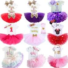 Летние комплекты для малышей, платье на 1 день рождения для маленьких девочек, платья для крещения новорожденных, платье для крещения для ма...