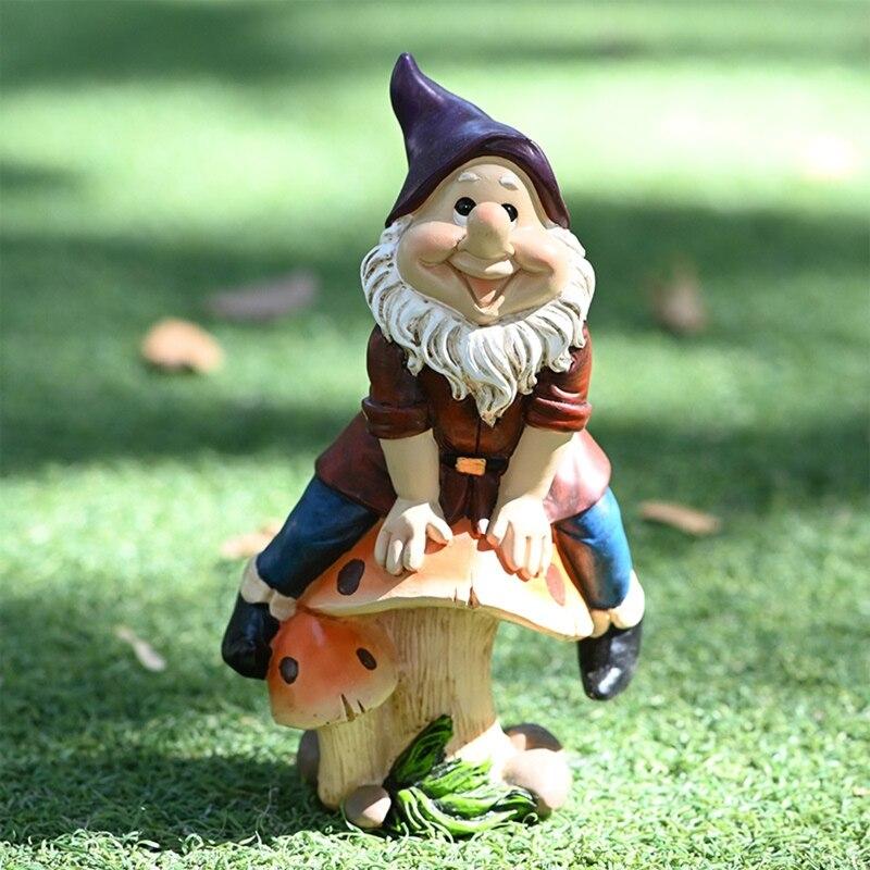 Сказочные садовые миниатюрные фигурки гномов, аксессуары для уличного декора дома H58C