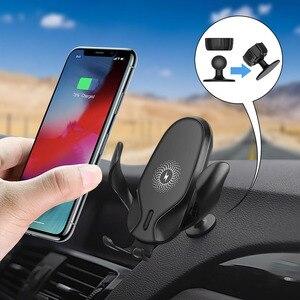 Image 3 - FDGAO 15W rapide Qi chargeur de voiture sans fil pour iPhone 11 Pro XS XR X 8 Samsung S10 S9 Note 10 Charge rapide support pour téléphone de voiture