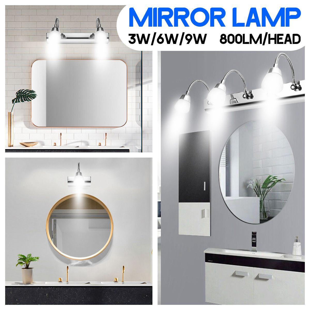 3W/6W/9W LED Bathroom Mirror Front Light Wall Lamp Makeup Vanity Light Waterproof Decorative Lamp Fixture Home Decor Lighting