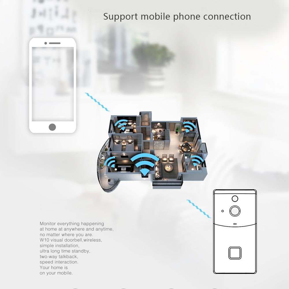 Smart Home Video Doorbell WiFi HD 720P Anti-theft Security Camera Night Vision Wireless Doorbell OD889