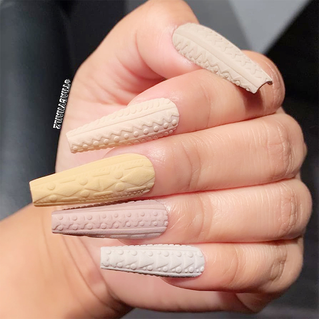 NEE JOLIE 5g 3D Embossment Gel Polish Colorful Soak Off LED UV Gel Varnish Nail Art 13 Colors Nail Gel Polish Nail Art Design