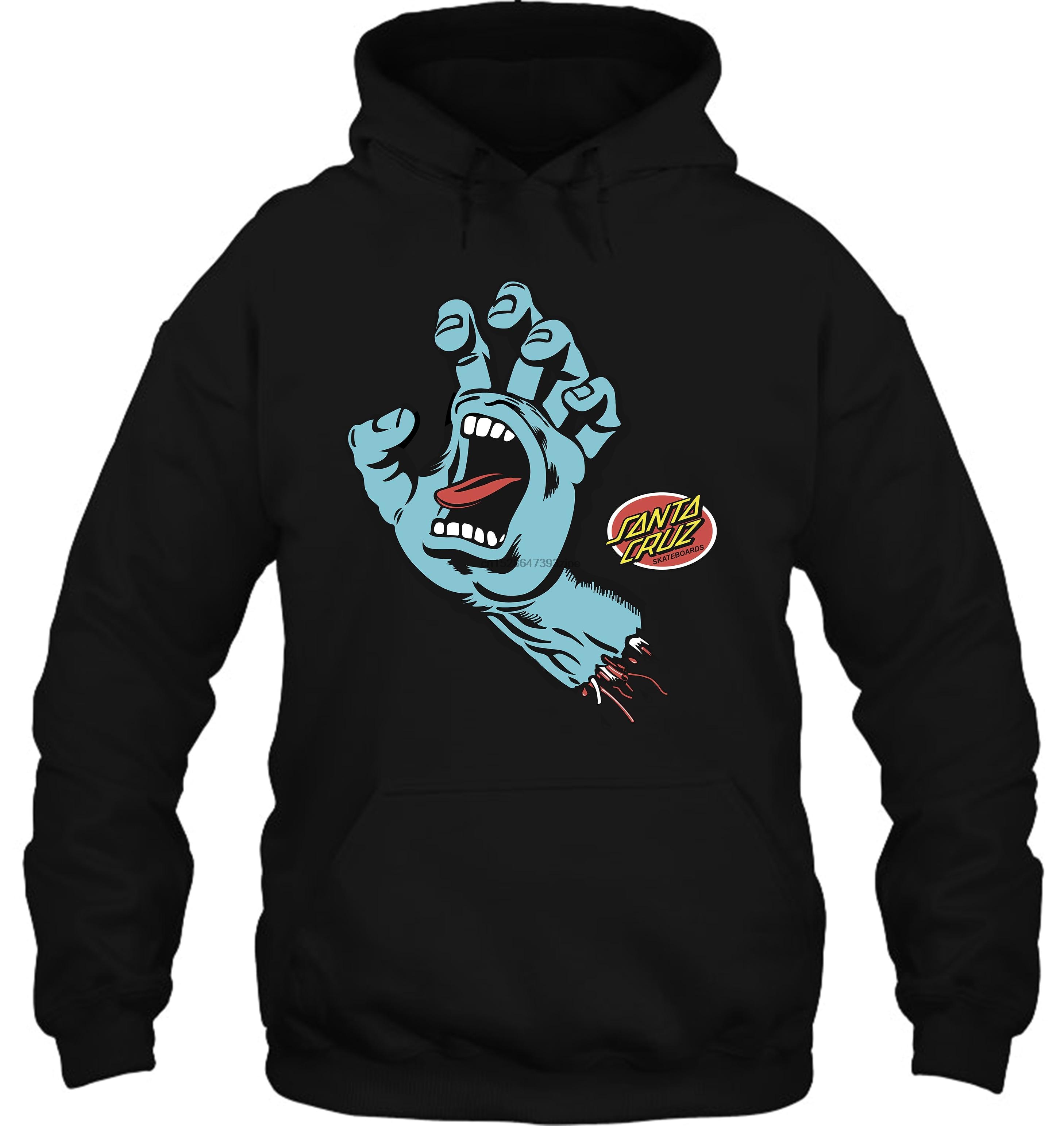 Vintage Skate 1980s Hand Logo Retro Skateboarding Reprint Streetwear Men Women Hoodies Sweatshirts