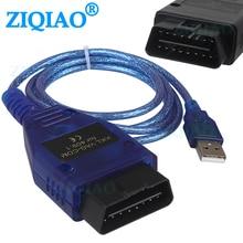 """OBD2 USB כבל VAG COM קק""""ל 409.1 OBD 2 USB אבחון כבל סורק סריקת כלי עבור פולקסווגן אאודי פולקסווגן סקודה מושב אבחון כלים"""