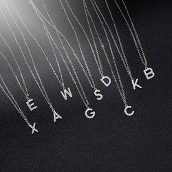 Tiny Trendy AAA Zircon Small Letter Necklace Luxury A-z Alphabet Name Necklace For Women Girls Korean Jewelry 2020