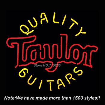 Taylor Guitars Neon Sign For Room neon light Custom  Arcade Glass Neon Light Sign Beer Bar Glass Tubes Sexy Lamp  Leopard Neon