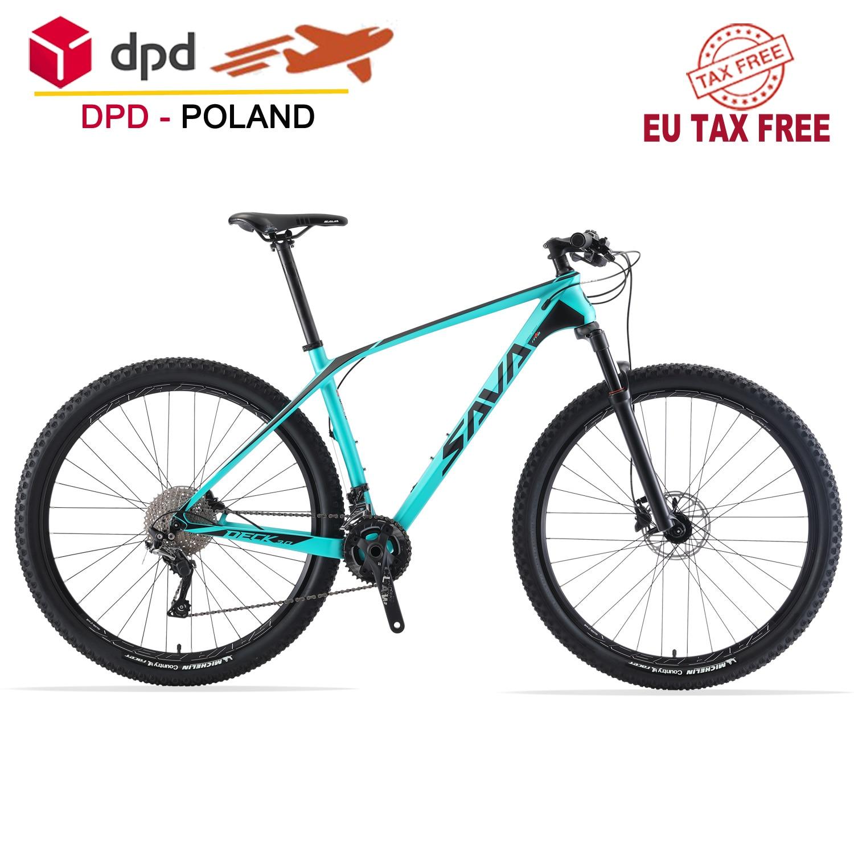 SAVA взрослый горный велосипед 27,5/29 дюймов углеродное волокно горный велосипед XC MTB 29er горный велосипед с SHIMANO DEORE 30 скоростей