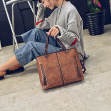 Vintage Shoulder Bag Female Causal Totes for Daily Shopping Women