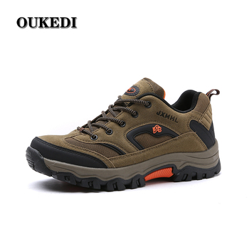 Hiking Shoes for Male Real Leather Non-slip Outdoor Hiking Boots Trekking Shoes Waterproof Sport Sneakers 45 46 47