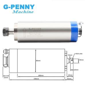 Image 2 - 2.2kw water cooled spindle kit CNC spindle motor 80*230 & 2.2kw VFD inverter & 80mm bracket & water pump & 8 pcs 0.008mm collets