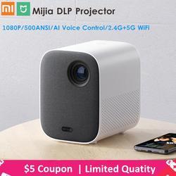 Xiaomi Mijia projektor DLP 1080P Full HD AI Voice pilot zdalnego sterowania 2GB DDR3 8GB eMMC 500ANSI 2.4G/5G WiFi 3D BT projektor LED 1