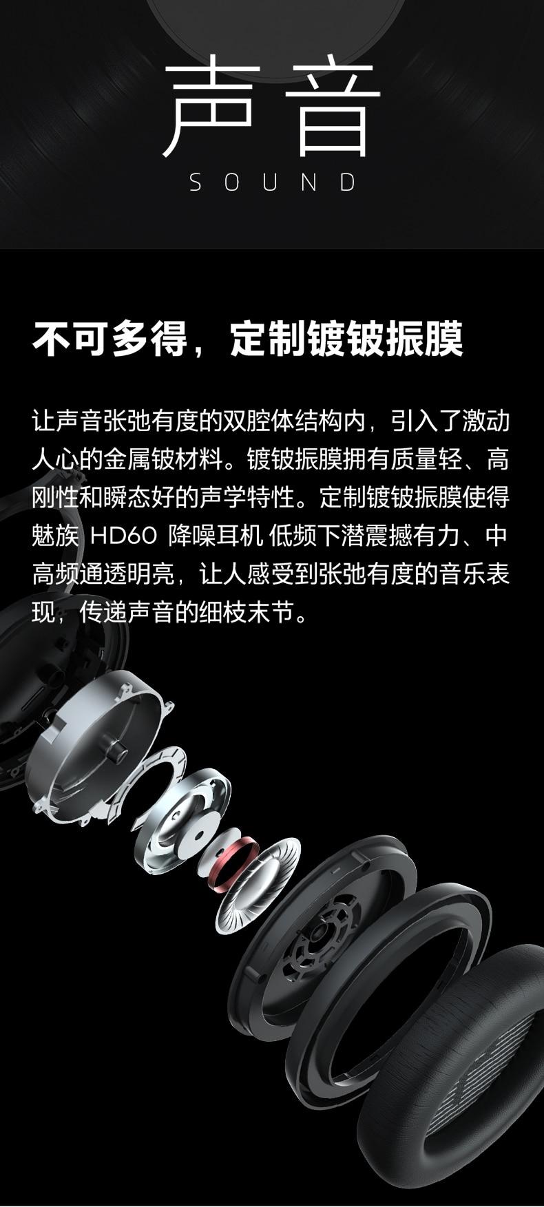 Original meizu hd60 aptx bluetooth 5.0 fones