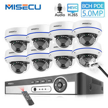 MISECU H.265 8CH 4MP POE Camera Audio CCTV System 5.0MP IP POE Vandal Proof Waterproof Camera Video Security Surveillance Kit - DISCOUNT ITEM  51% OFF All Category