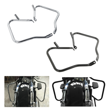 Motorcycle Saddle Bags Guard Bracket For Harley Touring Road King Street Electra Glide Ultra Classic FLHR FLHX FLTR FLHTCU 14-19