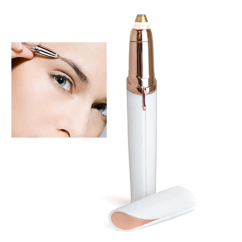 Electric Mini Eyebrow Trimmer Facial แบบพกพาเครื่องกำจัดขน Face Hair Hair Remover