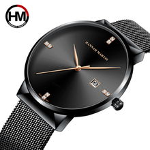 Men Watches New Fashion Quartz Clock Date Casual Stainless Steel Ultra Thin Steel Mesh Waterproof Top Brand Luxury Sport Watch fotina casual brand bosck quartz men watch ultra thin waterproof unisex stainless steel women dress ultra thin watches for men