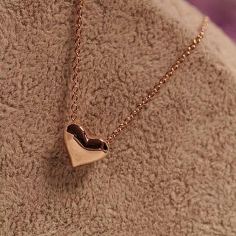 אופנה אהבת לב עצם הבריח שרשרת שרשרת נשי תכשיטי עבור אמא מתנות