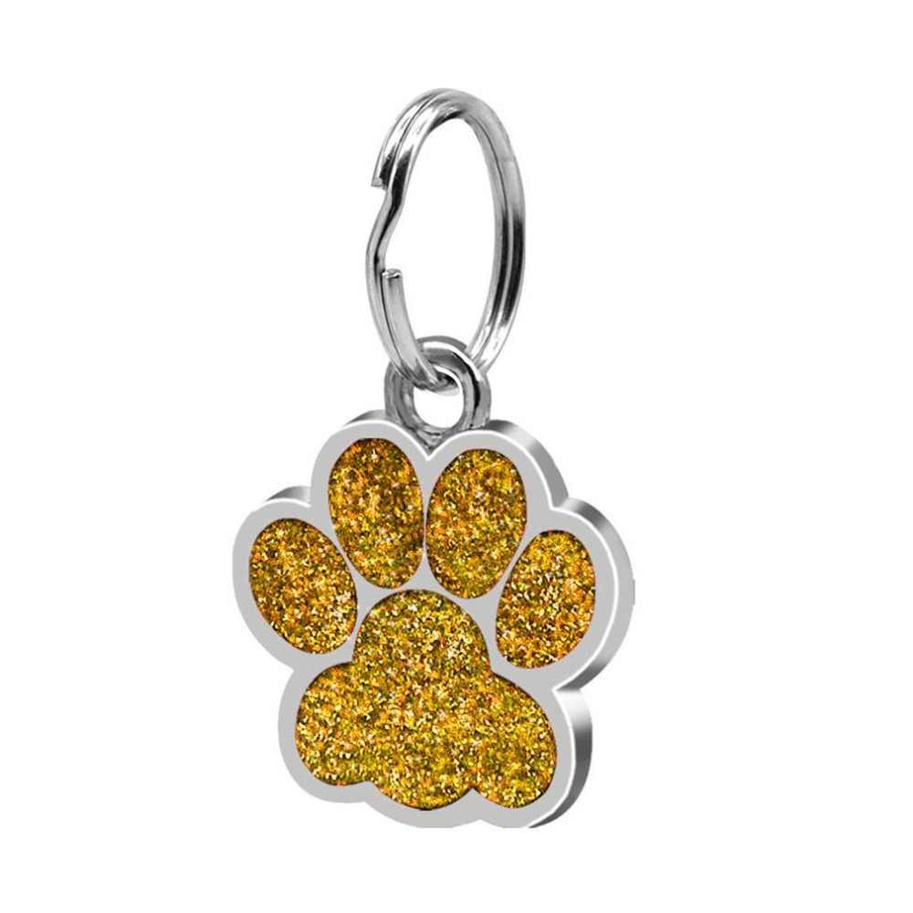Fashion Footprints Pet Pendant Decor Lovely Pet Jewelry Popular Glitter Footprint Identity Card Dog Tag Pet Accessories