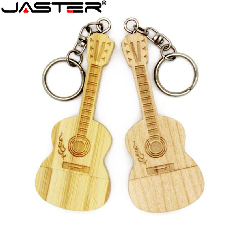 JASTER Maple Wooden Bamboo Guitar Model USB 2.0 Usb Stick 64GB Flash Drive 4GB 8GB 16GB 32GB Pendrive