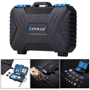 Card Reader+22 in 1 Waterproof Memory /SD Card Case Storage Box for 1Standard SIM+2Micro-SIM+2Nano-SIM+7SD+6TF+1CARD PIN