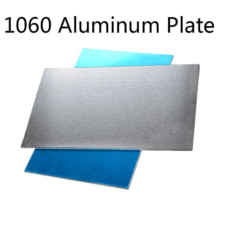 300*300mm 1060 Aluminum Flat Plate Board Machinery Parts Pure Aluminum Sheet Customizable Electrical Application DIY Material