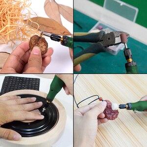 Image 5 - NEWACALOX USB зарядка переменная скорость мини шлифовальный станок роторные инструменты комплект шлифовальный станок с 126 шт. гравировальный набор аксессуаров
