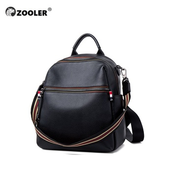 ZOOLER Women's genuine leather backpack bag waterproof real cow backpacks luxury women travel bagpack рюкзак женский кожаный