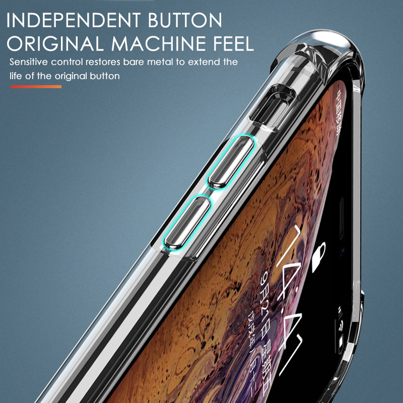 Luxury Shockproof Silicone Phone Case For iPhone 7 8 6 6S Plus 7 Plus 8 Plus XS Max XR 11 Case Transparent Protection Back Cover