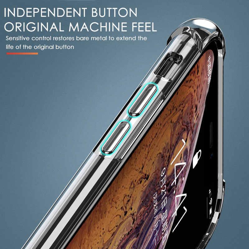 高級耐衝撃シリコン電話ケース iphone 7 8 6 6S プラス 7 プラス 8 プラス XS 最大 XR 11 ケース透明保護バックカバー