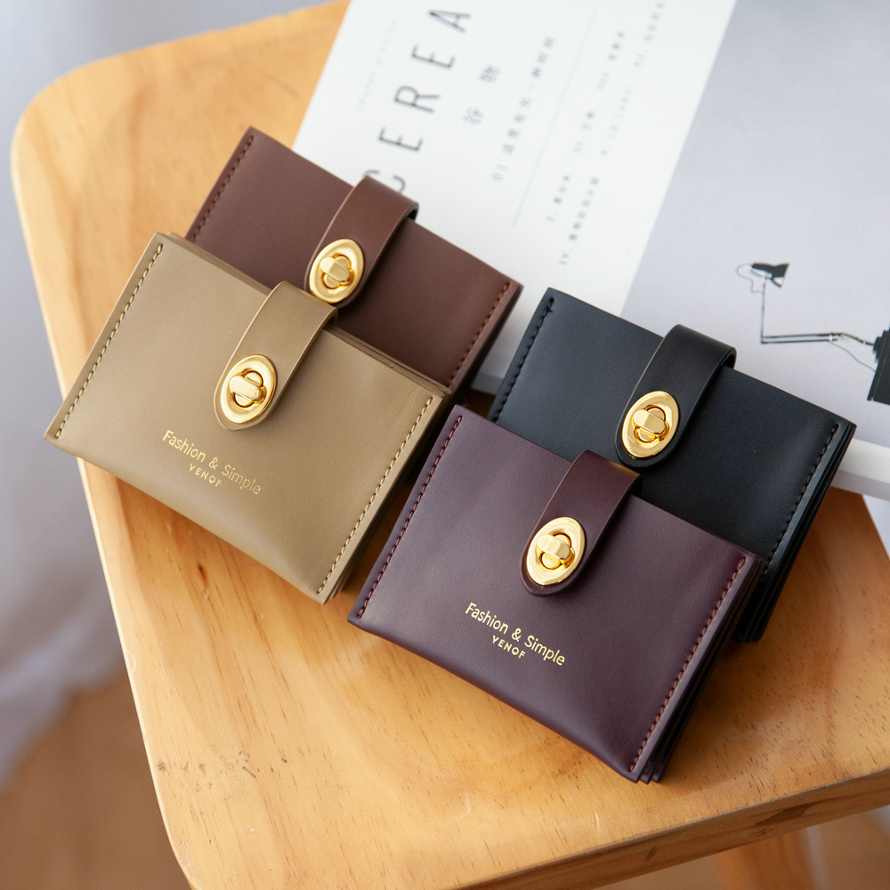 Image 3 - VENOF fashion genuine leather card bags for women leather bank card bags top grade Credit Card bag black red brown green creamCard & ID Holders   -