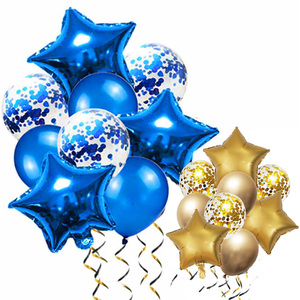 Blue Balloons Air Ballons Deco Birthday Star Foil Baloon Helium Birthday Party Decorations Kids Adults Balls Silver Gold Globos(China)