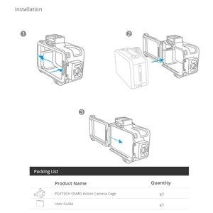 Image 5 - PGYTECH caméra Cage accessoire Protection boîtier cadre boîtier universel Interface extension accessoires pour DJI OSMO Action