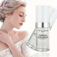 TLM 30ML Magic Color Changing Liquid Foundation Makeup Face Concealer Skin Foundation Base Nude Tone Lasting Makeup Long 2019 new warm skin tone liquid face foundation brightens portable concealer long lasting color fade oil control moisturizer