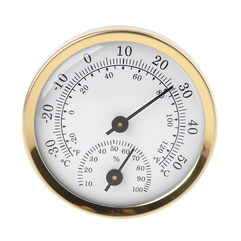 Indoor Analog Thermometer Hygrometer Humidity Temperature Gauge 58mm Household