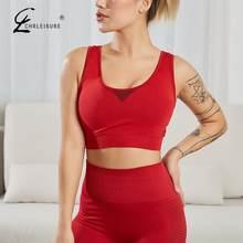 Volle Tasse Fitness Bh Gym Top Frauen Workout Stoßfest Bralette Elastische Ohne Bügel Ausbildung Bhs Athletisch Weste