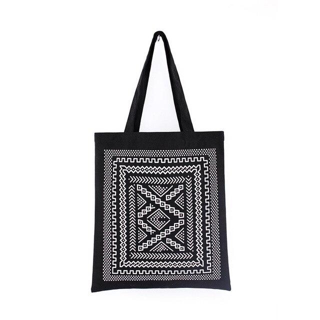 GABWE Unisex Handbags Custom Canvas Tote Bag Print Grocery Daily Use Reusable Eco Cotton Travel Casual Shopping Women Totes 4