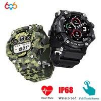 Reloj inteligente TRDT6 para hombre, pulsera resistente al agua IP67 Larga modo de reposo, con control del ritmo cardíaco y de la presión sanguínea, para deportes al aire libre, 696