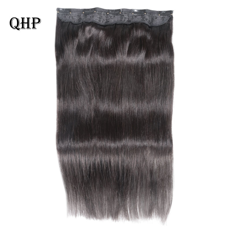 Clip In Human Hair Extensions 10 Inches With 5 Clips/piece Natural Pure Color Extensions Straight Brazilian Remy Hair 70g/pc